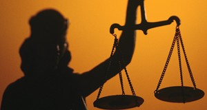 Lady Justice Scales Shadowed FEA